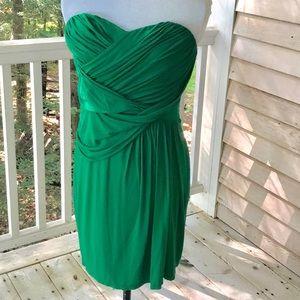 Express Strapless Sweetheart Green Dress